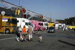 The F1 paddocks