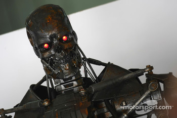 Terminator in the Brawn GP garage