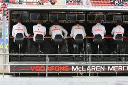 McLaren Mercedes pitwall