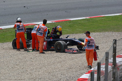 Crash in the first corner, Sebastien Buemi, Scuderia Toro Rosso