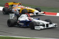 Robert Kubica, BMW Sauber F1 Team, Nelson A. Piquet, Renault F1