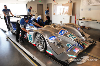 Technical inspection for the #15 Lowe's Fernandez Racing Acura ARX-01b Acura
