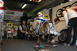LCR Honda MotoGP team members at work
