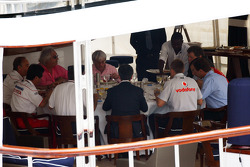 FOTA meeting on the boat of Flavio Briatore, Renault F1 Team, Team Chief, Managing Director