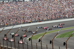 The field goes through corner four to start the 93rd Indianapolis 500