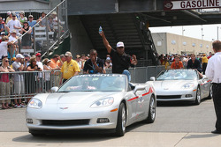 Willy T. Ribbs waves to the crowd