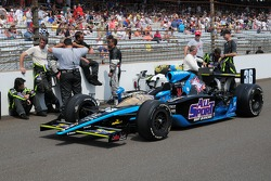 Alex Tagliani's car sits on the grid for the 93rd Indianapolis 500