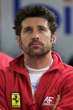 Patrick Dempsey watches qualifying