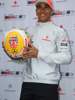 Lewis Hamilton, McLaren Mercedes and his new helmet for the British Grand Prix