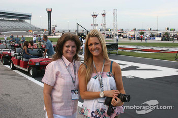 Nancy Foyt and Casey Irsay