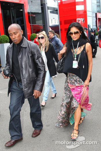 Anthony Hamilton, Father of Lewis Hamilton and Nicole Scherzinger, Singer in the Pussycat Dolls and girlfriend of Lewis Hamilton, McLaren Mercedes