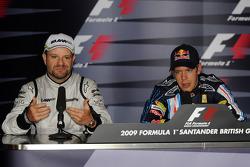 Press conference: pole winner Sebastian Vettel, Red Bull Racing, second place Rubens Barrichello, Brawn GP