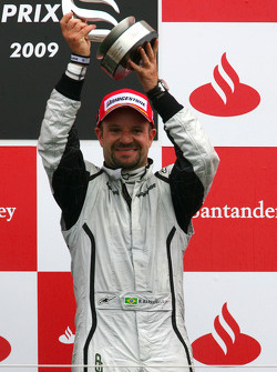 Podium: third place Rubens Barrichello, Brawn GP