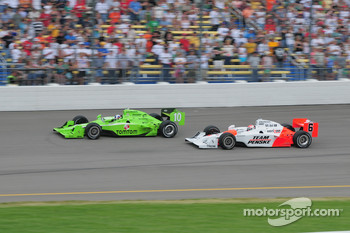 Dario Franchitti, Target Chip Ganassi Racing runs with Ryan Briscoe, Team Penske