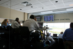 Early race action in the race control room