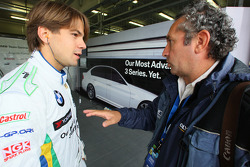 Augusto Farfus, BMW Team Germany talking to Romano Poli, Italian photographer