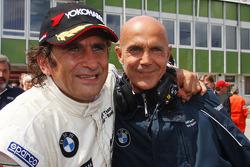 Alex Zanardi, BMW Team Italy-Spain celebrating