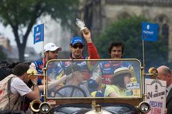 Tiago Monteiro, Bruno Senna and Stéphane Ortelli