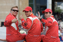 Mika Salo, Pierre Kaffer and Jaime Melo