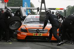 Pitstop of Gary Paffett, Team HWA AG, AMG Mercedes C-Klasse