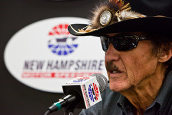 Richard Petty talks with media