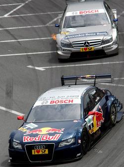 Mattias Ekström, Audi Sport Team Abt Audi A4 DTM and Bruno Spengler, Team HWA AMG Mercedes C-Klasse