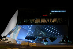 The Porsche Museum by night