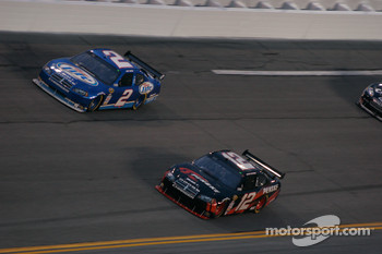Kurt Busch, Penske Racing Dodge and David Stremme, Penske Racing Dodge
