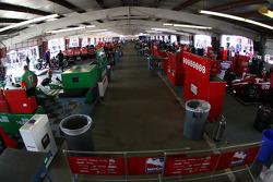 Indycar garage area