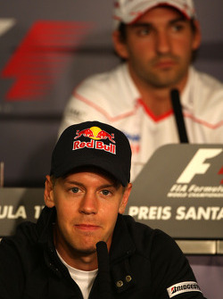 FIA press conference: Sebastian Vettel, Red Bull Racing, Timo Glock, Toyota F1 Team