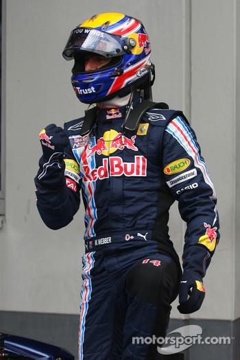 Pole winner Mark Webber, Red Bull Racing