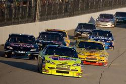Mark Martin, Hendrick Motorsports Chevrolet leads the field