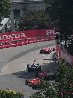 The start of the Honda Indy Toronto