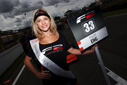 The grid girl for Philipp Eng