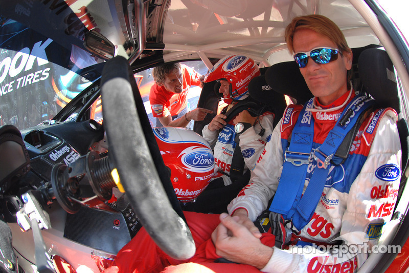 Marcus Gronholm and co-driver Timo Alanne wait patiently for their turn to tackle Pikes Peak