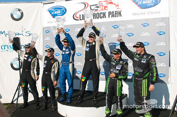 GT3 challenge podium: class winners Wesley Hoaglund and Bob Faieta, second place Ed Brown and Bill Sweedler, third place Nick Parker and Donald Pickering