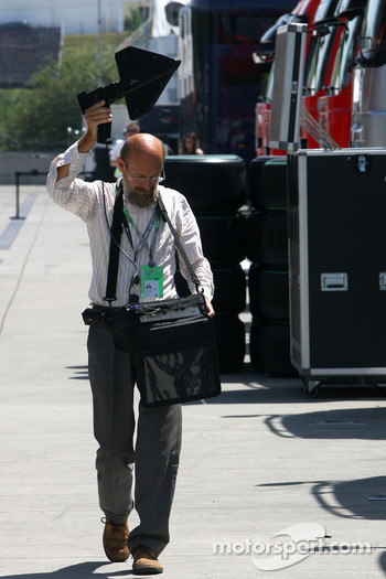 Strange guy in the paddock