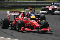 Kimi Raikkonen, Scuderia Ferrari and Mark Webber, Red Bull Racing