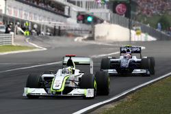 Jenson Button, BrawnGP, Kazuki Nakajima, Williams F1 Team