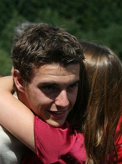 Jules Bianchi gets a hug