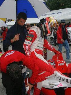 Jules Bianchi gets ready