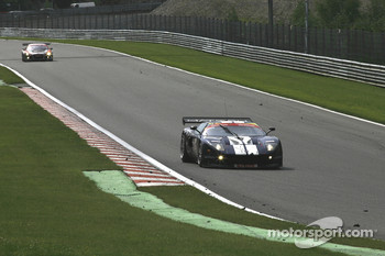 Entering Pouhon; #121 Matech GT Racing Ford GT: Thomas Mutsch, Maxime Martin, Peter Wyss, Marc Hennerici
