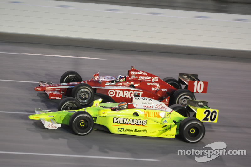 Dario Franchitti, Target Chip Ganassi Racing runs with Ed Carpenter, Vision Racing