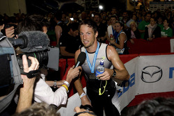 Jenson Button at the London triathlon