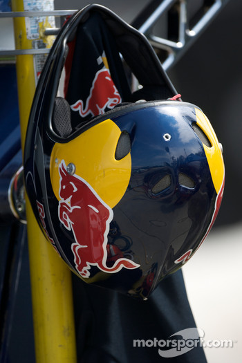 Helmet for crew member of Brian Vickers, Red Bull Racing Team Toyota