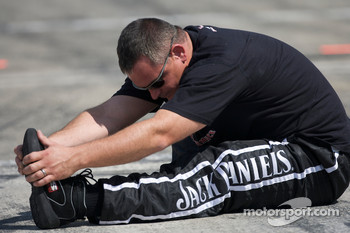 Richard Childress Racing Chevrolet crew member prepares for the race