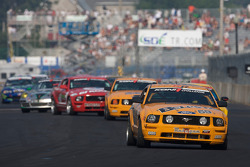 #59 Rehagen Racing Ford Mustang GT: Dean Martin, Ken Wilden during a full-course yellow