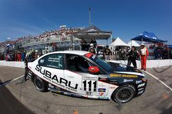 Pit stop for #111 Subaru Road Racing Team Subaru Legacy: Andrew Aquilante, Kristian Skavnes