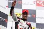 Podium: race winner Alexander Sims, Muecke Motorsport Dallara F308 Mercedes