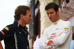 Christian Horner, Red Bull Racing, Sporting Director and Mark Webber, Red Bull Racing